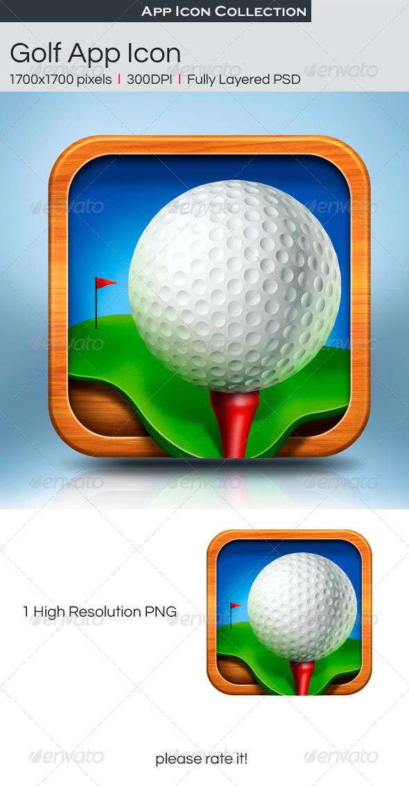GraphicRiver Golf App Icon 4592866