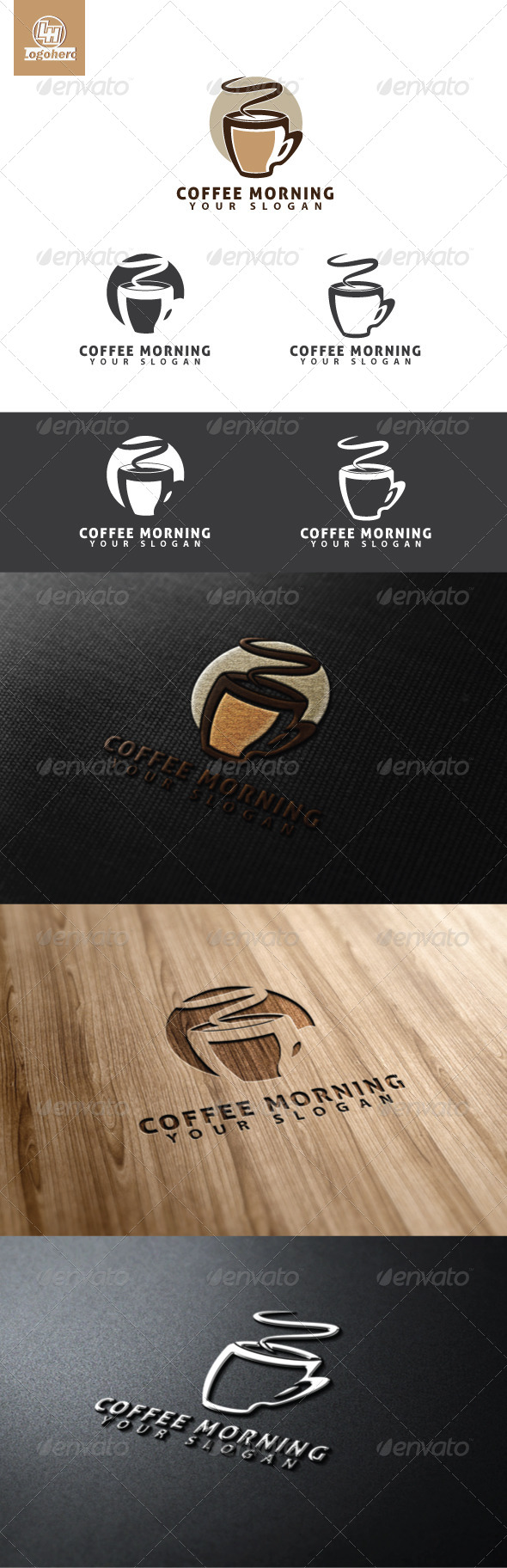 GraphicRiver Coffee Morning Logo Template 4635425