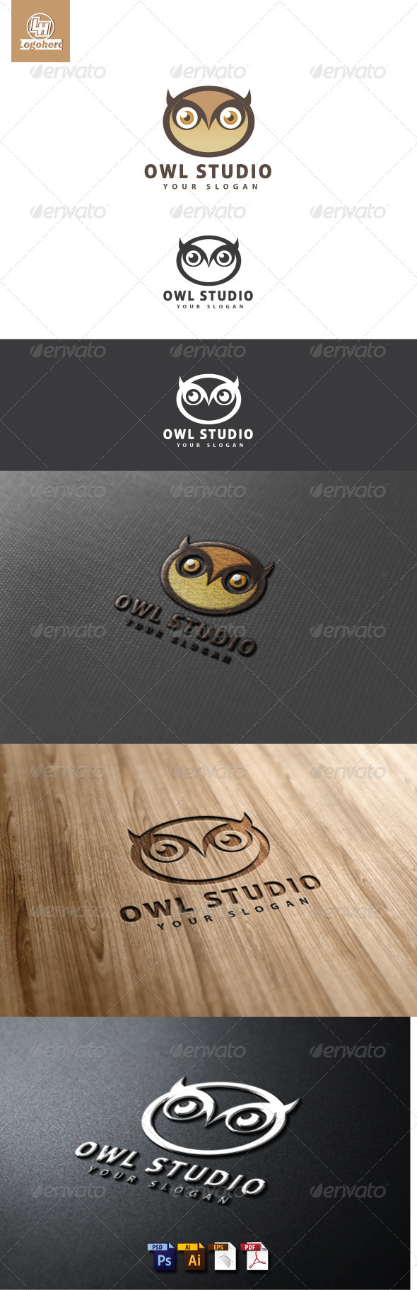 GraphicRiver Owl Studio Logo Template 4641494