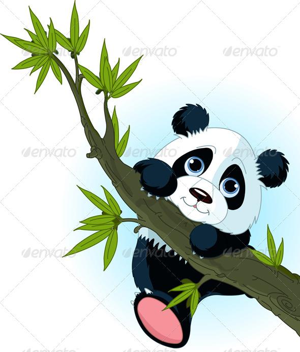 GraphicRiver Panda Climbing Tree 4660654
