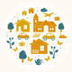 Vector Town Pattern - GraphicRiver Item for Sale