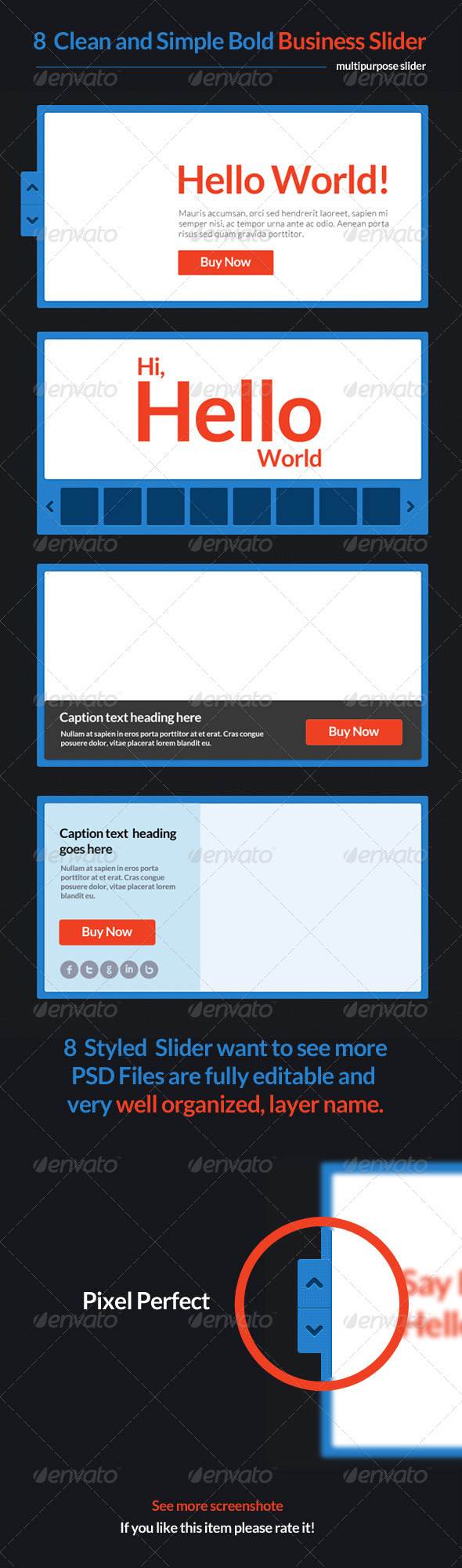 GraphicRiver 8 Clean and Simple Bold Business Slider 4644083