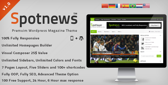 ThemeForest Spotnews Responsive WordPress News Magazine 4602049