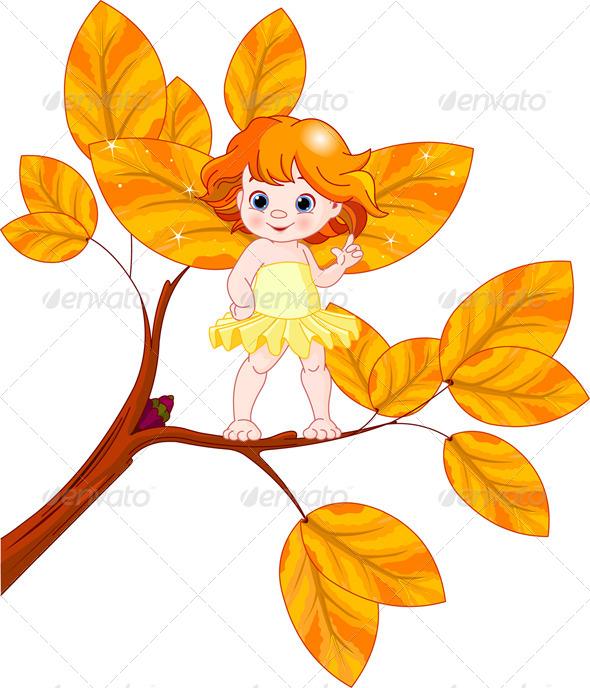 GraphicRiver Autumn Baby Fairy 4661019