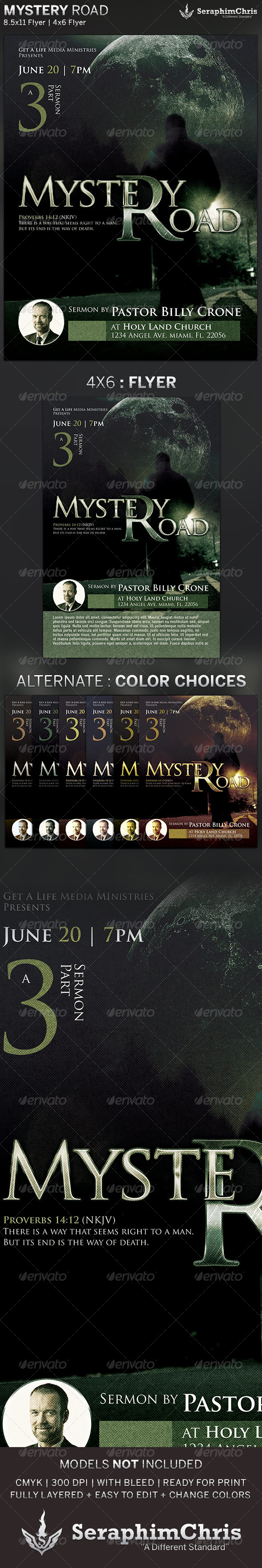 Mystery Road: Church Flyer Template - Church Flyers
