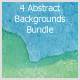 4 Abstract Background Bundle (Aquarelle) - GraphicRiver Item for Sale