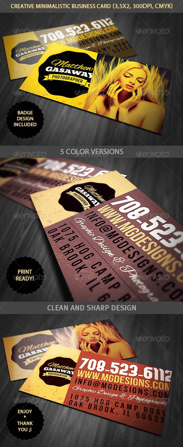 GraphicRiver Minimalistic Creative Business Card 4661804