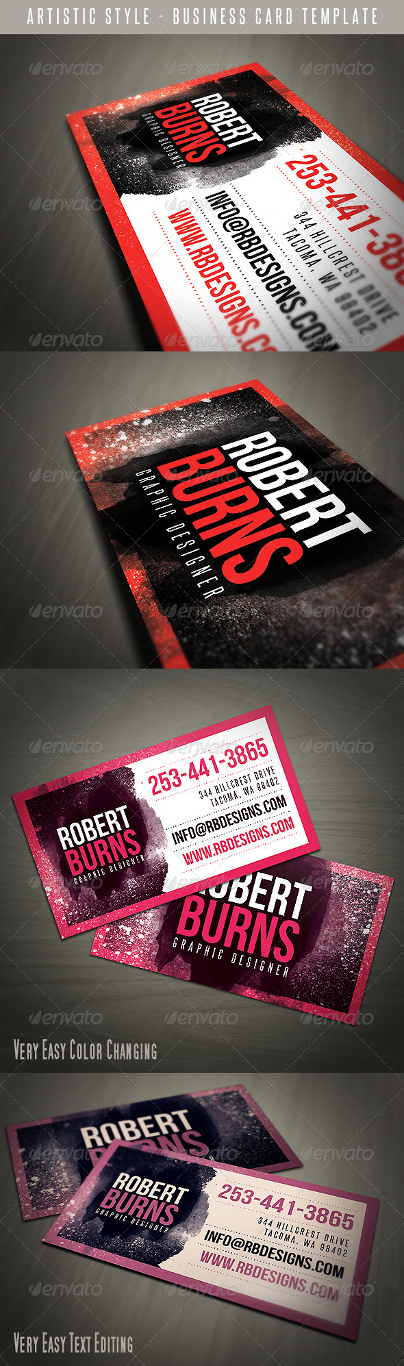 GraphicRiver Artistic Business Card 4661990