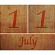 Wooden calendar July 11. - PhotoDune Item for Sale
