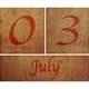 Wooden calendar July 3. - PhotoDune Item for Sale