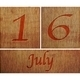 Wooden calendar July 16. - PhotoDune Item for Sale