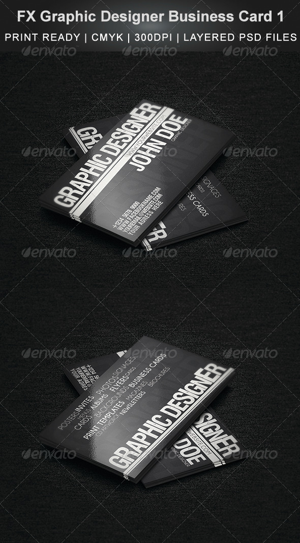FX Graphic Designer Business Card 1 - Creative Business Cards