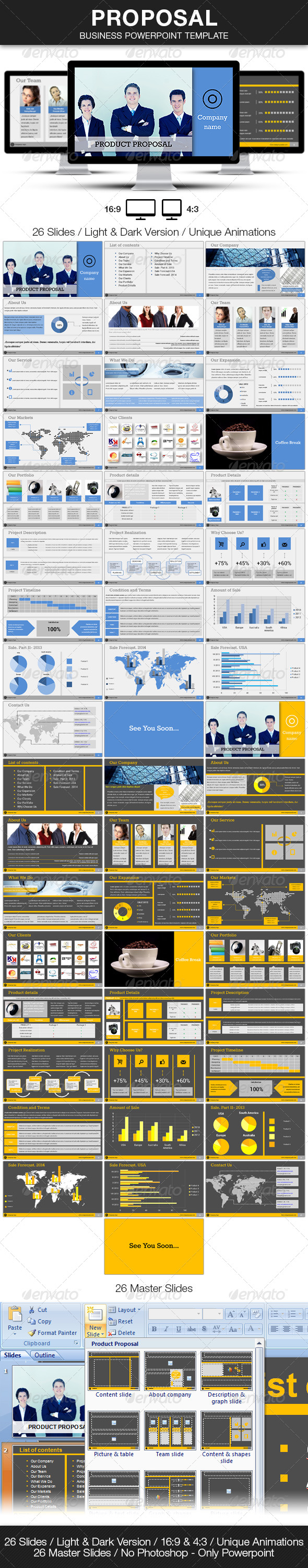 GraphicRiver Proposal Business Powerpoint Template 4512007
