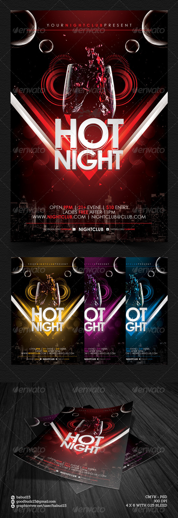 GraphicRiver Hot Night Flyer Template 4662417