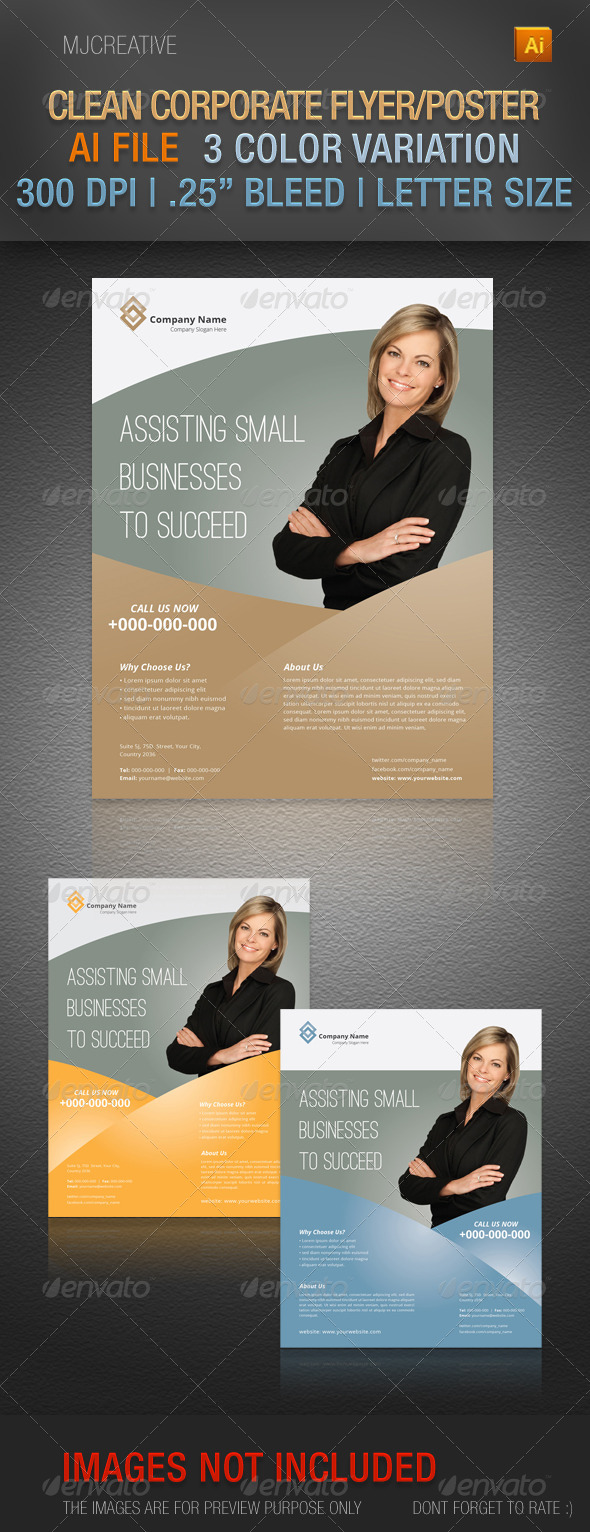 GraphicRiver Clean Corporate Flyer Poster Set 2 4662655