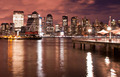 New York City skyline at Night Lights, Midtown Manhattan - PhotoDune Item for Sale