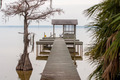 gazebo pier on a lake with chairs - PhotoDune Item for Sale
