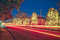 christmas town streets decorated for holidays - PhotoDune Item for Sale