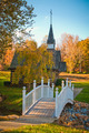 small chapel across the bridge in autumn season - PhotoDune Item for Sale