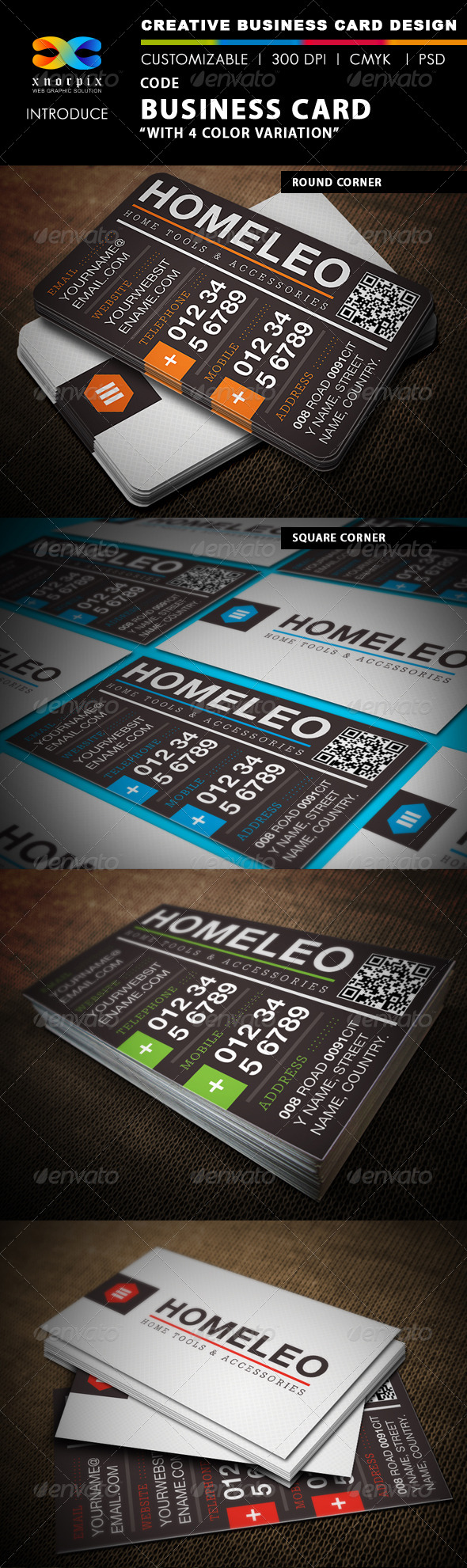 GraphicRiver Code Business Card 4558419