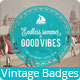 6 Vintage Badges and  6 labels - GraphicRiver Item for Sale