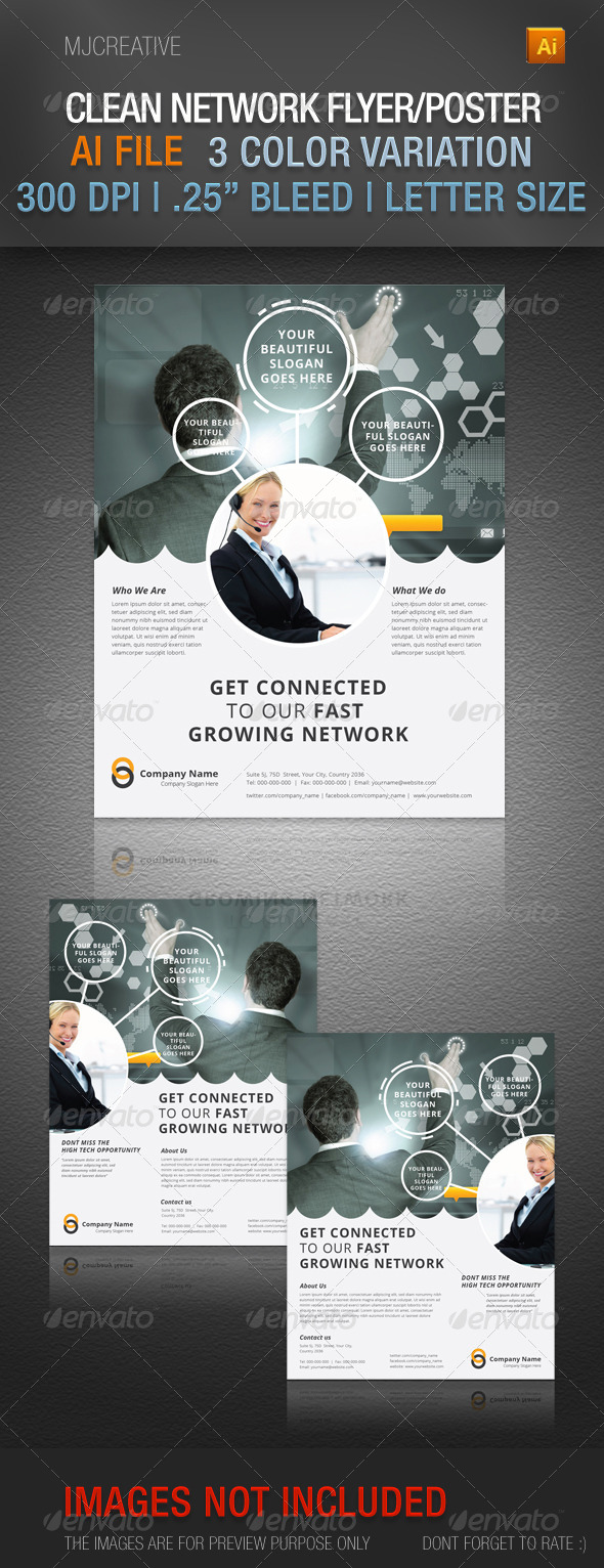 GraphicRiver Clean All-Purpose Flyer Poster 4663393