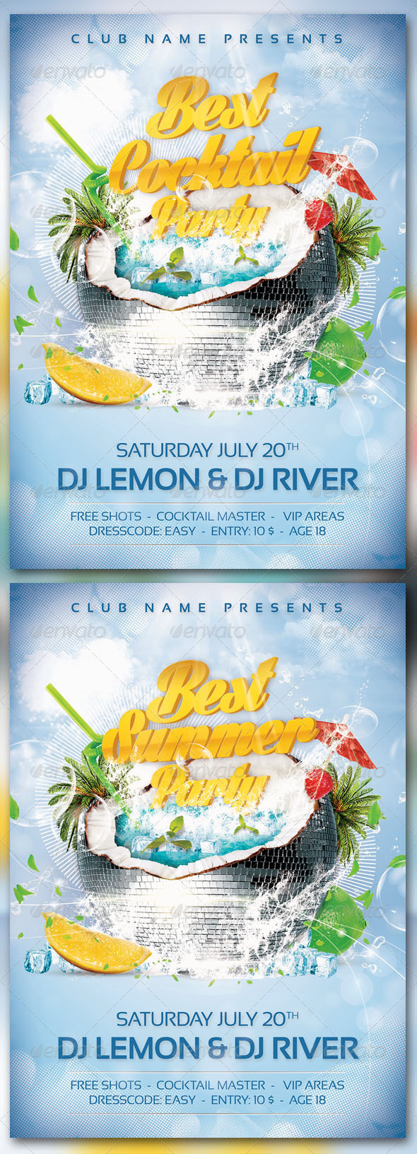 Best Summer-Cocktail Party - Events Flyers