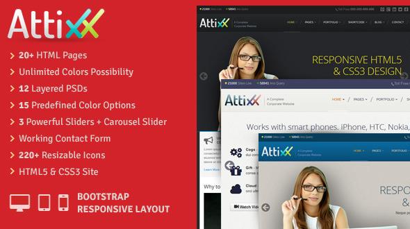 Attixx - Responsive Corporate HTML Theme
