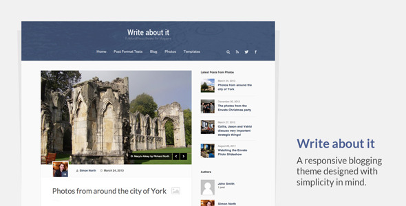 Write About It - Responsive Blogging Theme