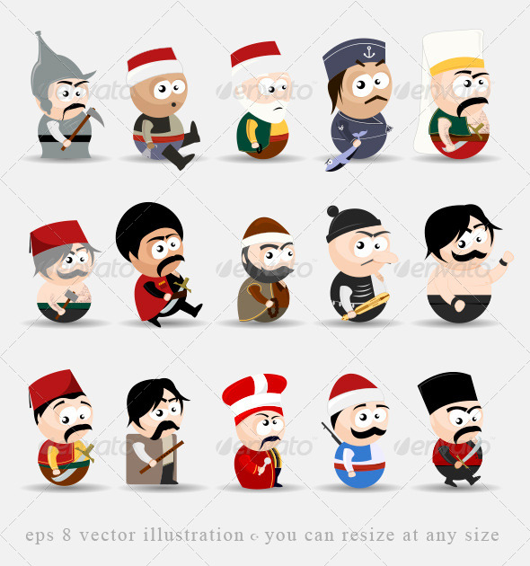GraphicRiver Cartoon People 4663884