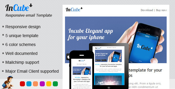 ThemeForest Incube Responsive HTML Email Template 4663975