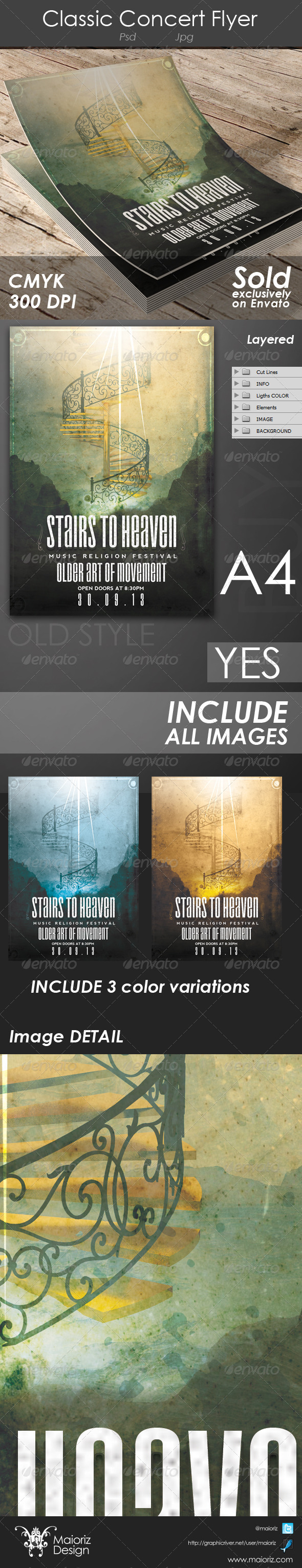 GraphicRiver Heaven Stairs Christian Flyer 4664075