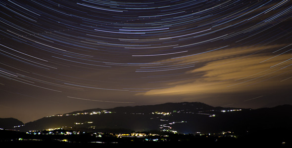 VideoHive Star Trails Over Italian Hills Timelapse 2 Pack 4664121