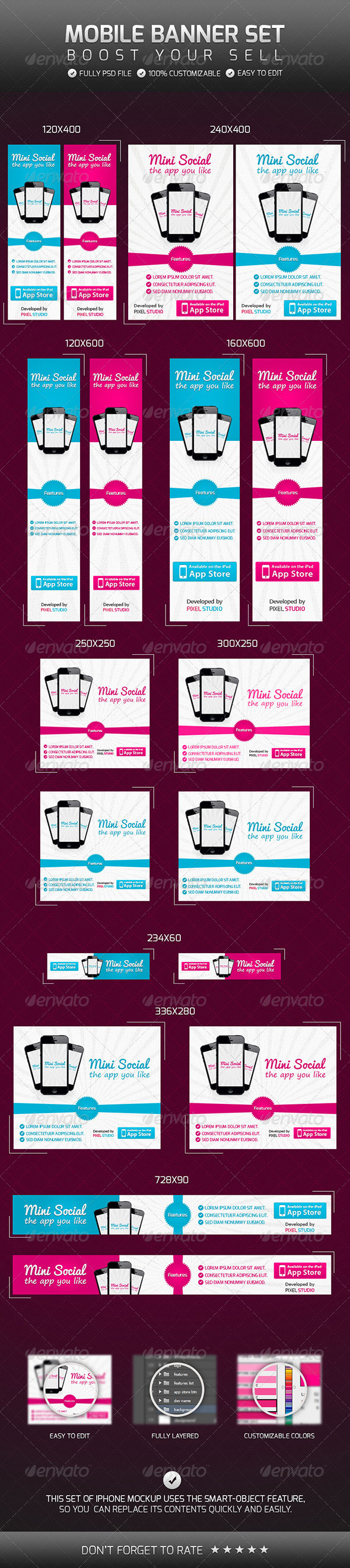 GraphicRiver Mobile Banner Set 4664240