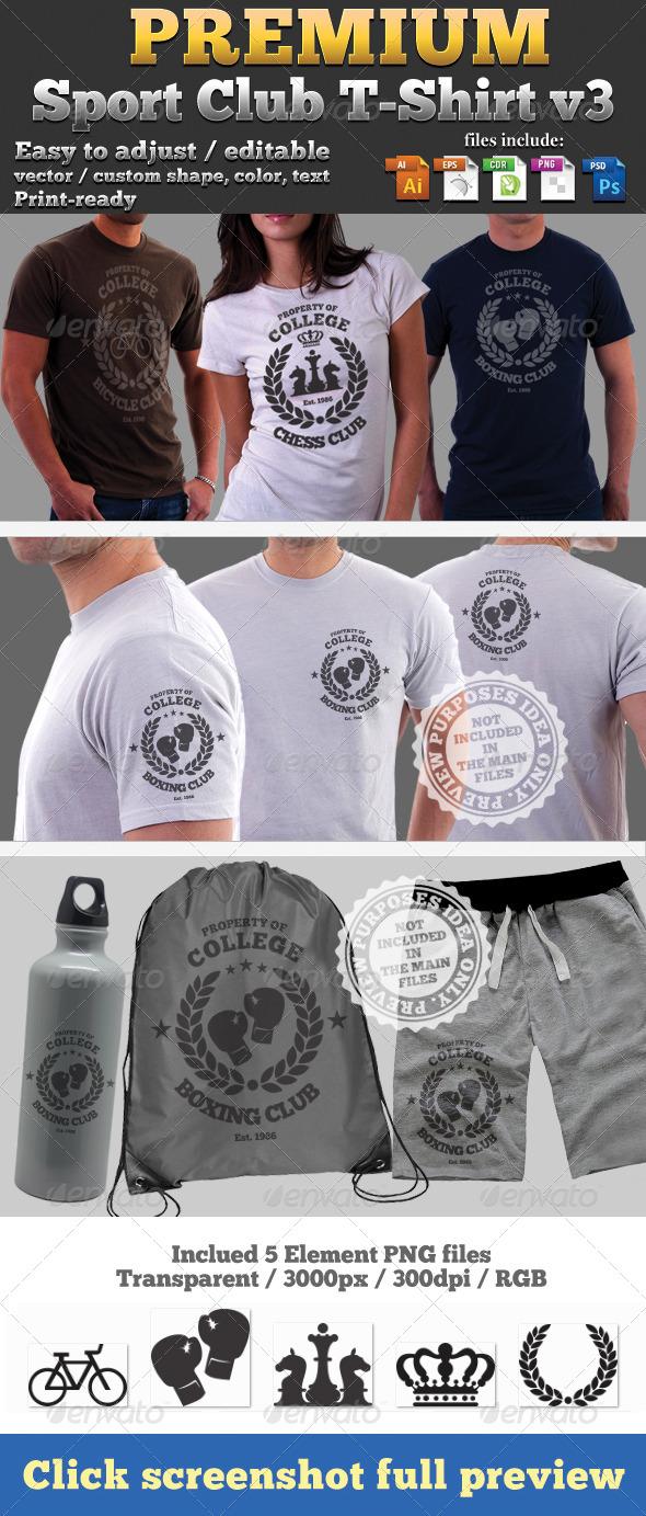 GraphicRiver Premium Sport Club T-Shirt V3 Template 4664700