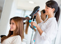 Stylist drying hair - PhotoDune Item for Sale