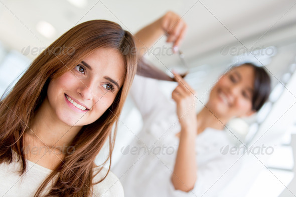 Girl at the beauty salon - Stock Photo - Images