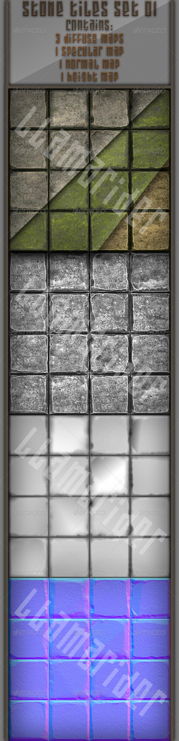 3DOcean Stone Tiles 01 4664956