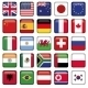 Vector Set of Flags World Top States - GraphicRiver Item for Sale