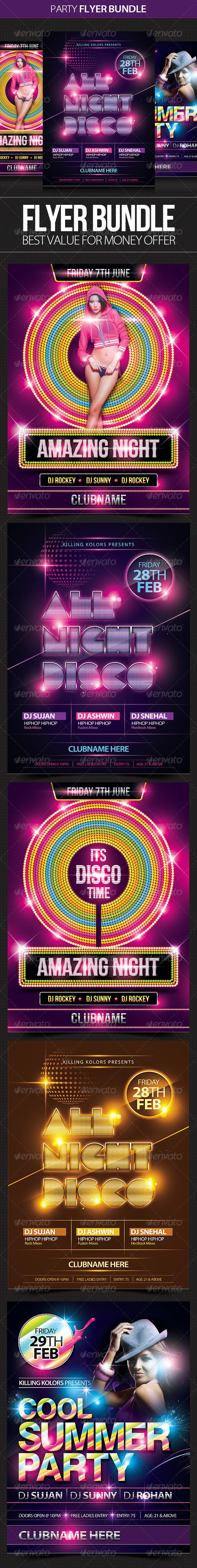 GraphicRiver Club Party Flyer Bundle 4665115