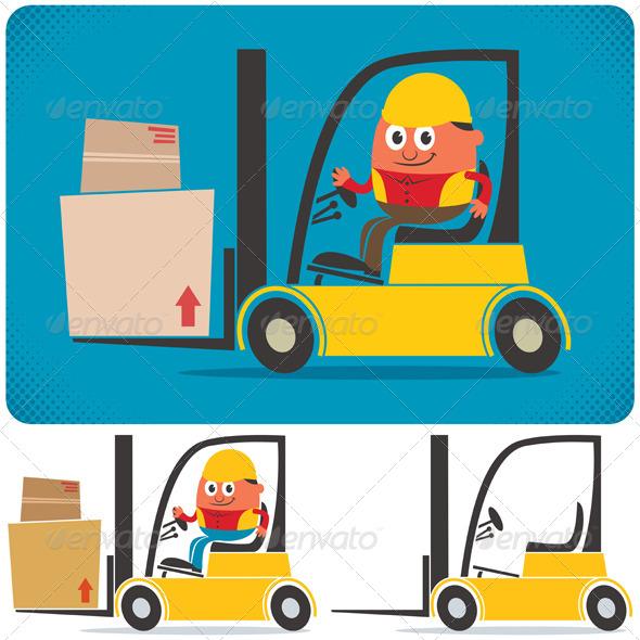 GraphicRiver Forklift Driver 4665123