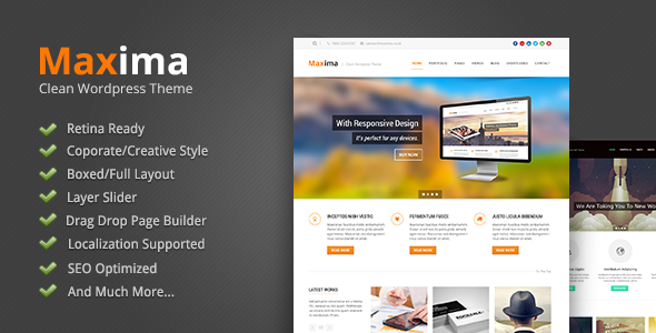 ThemeForest Maxima Retina Ready Wordpress Theme 4665137
