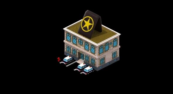 Police Station - 3DOcean Item for Sale
