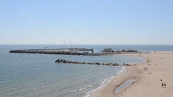 Large Beach and Bay Panorama