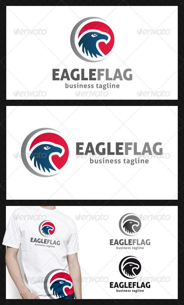 GraphicRiver Eagle Flag Logo Template 4665802