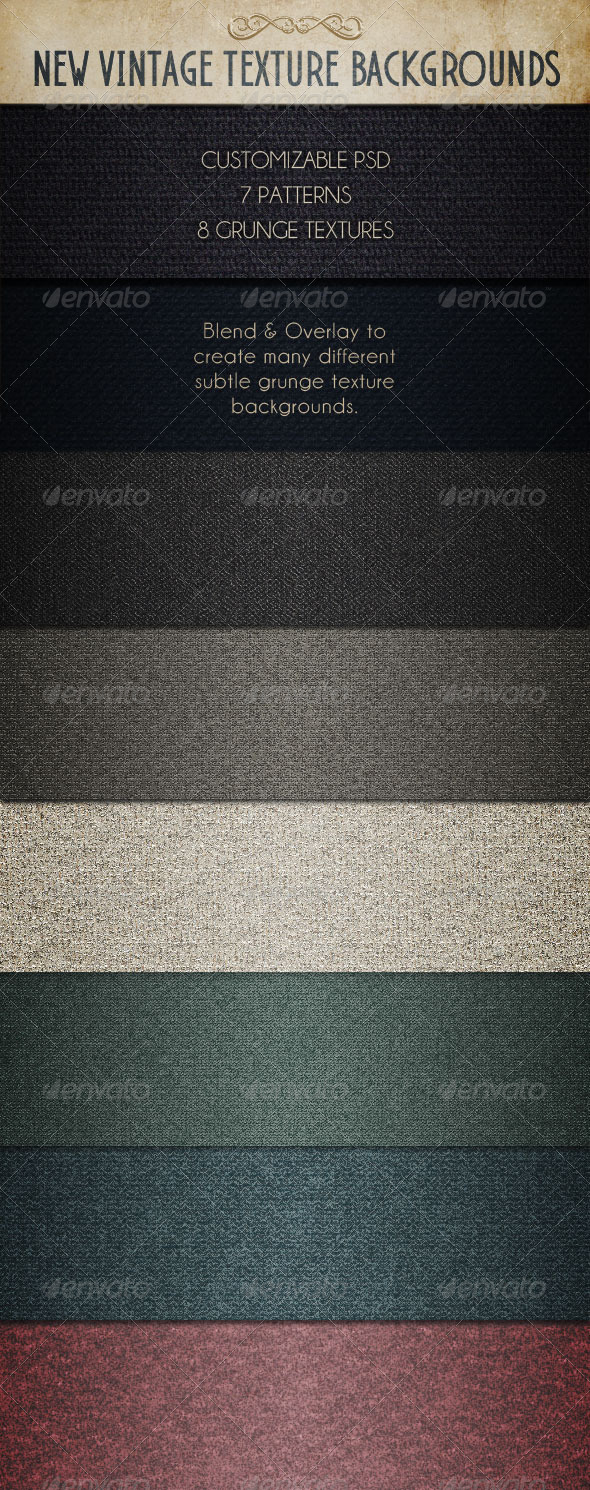 GraphicRiver Customizable New Vintage Backgrounds 4665810