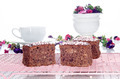 chocolate walnut cake on a cooling rack - PhotoDune Item for Sale
