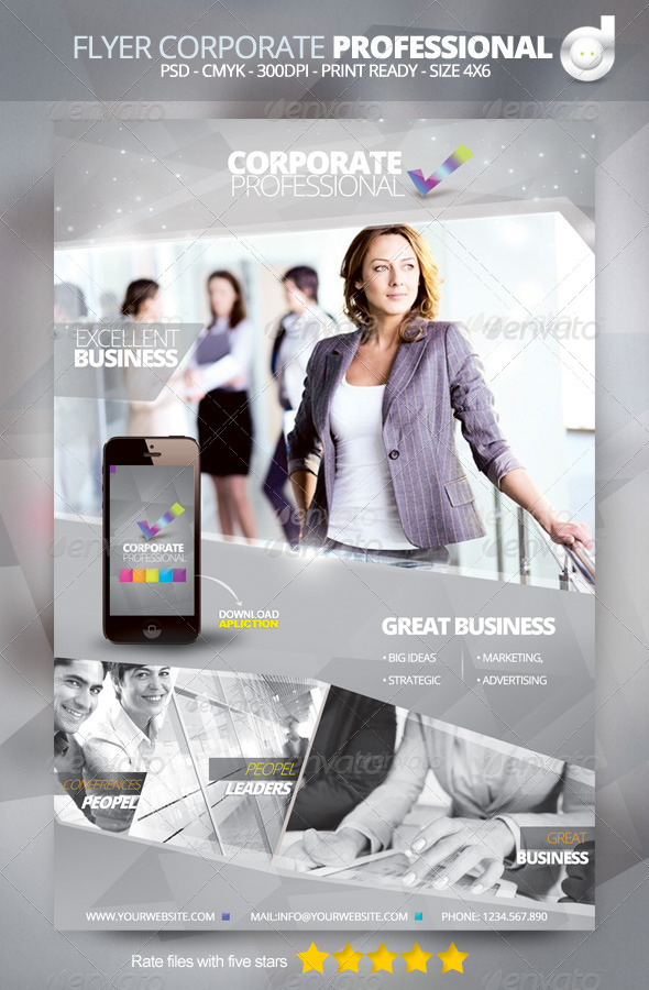 GraphicRiver Flyer Template Corporate Professional 4666070
