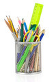 holder basket and office supplies - PhotoDune Item for Sale