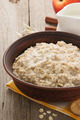 bowl of oatmeal on wood - PhotoDune Item for Sale